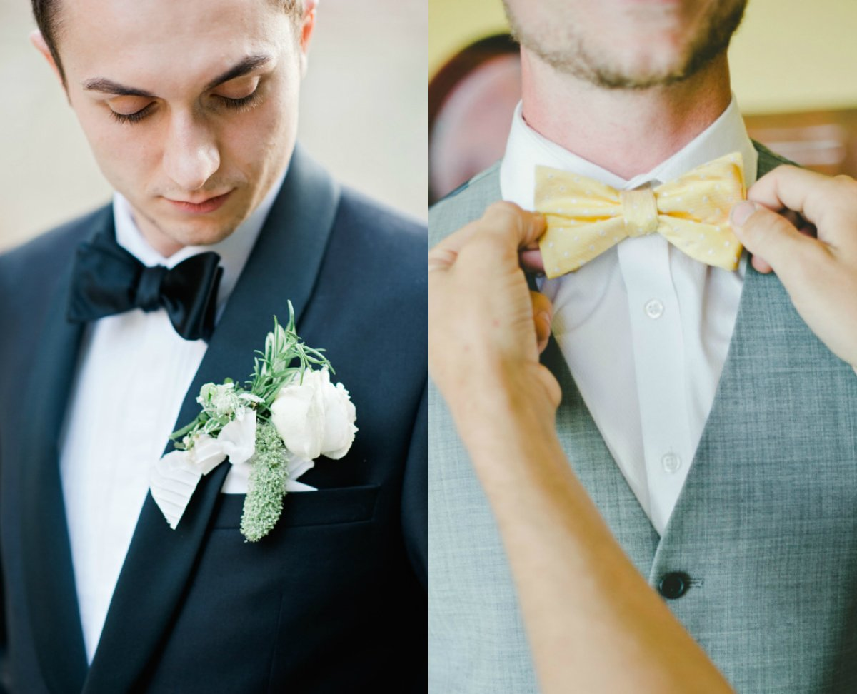 Classic black bow tie groom // Fotografie: A Brit & A Blonde // Engaged.nl