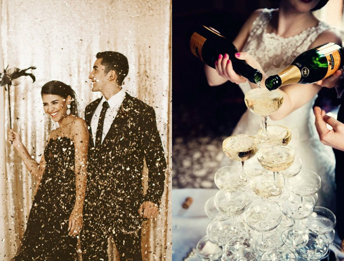 New Year's Eve Wedding Inspiration // Hazelwood Photo // Love Lux Weddings & Parties // Engaged.nl