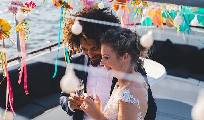 Styled shoot: summer wedding in de grachten van Amsterdam