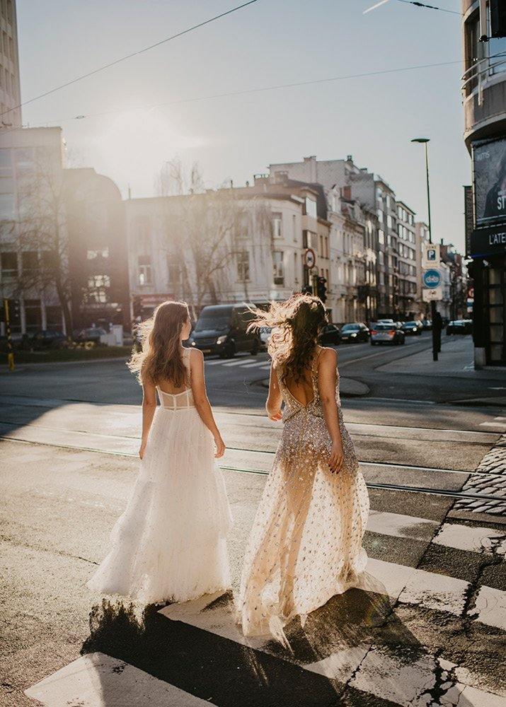 Styled shoot: city vibes en trouwjurken van The Ivory Club